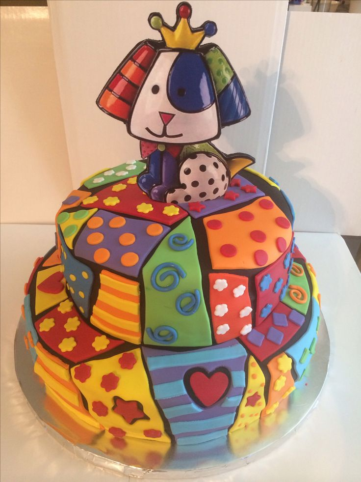 Romero Britto Dog Cake