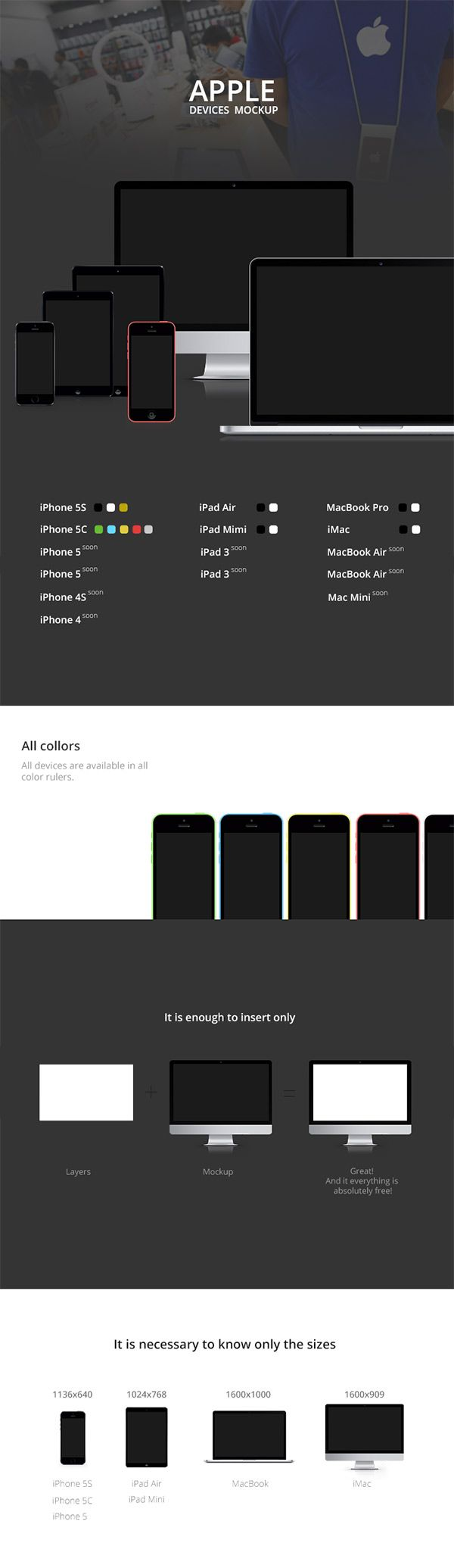Apple Devices MockUp | GraphicBurger