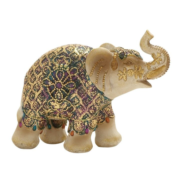 The Elephant collectibles attract all the good energies with their trunks up in the air. Elephants are a symbol of power and good luck in the South East direction of your living room. This figurine is