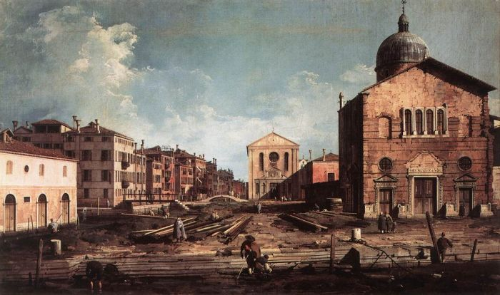 View of San Giuseppe di Castello by CANALETTO #art