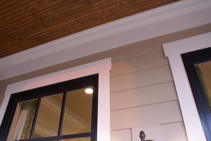 Exterior Window Frames Exterior Window Trim Detail Love The Black With A Thick White Style