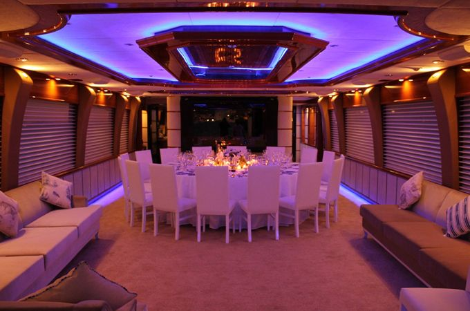 Small inner side luxury boat wedding at Bosphorus