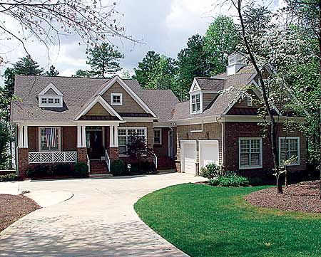 A perfect craftsman cottage with master down and lots of for Craftsman house plans one story with basement