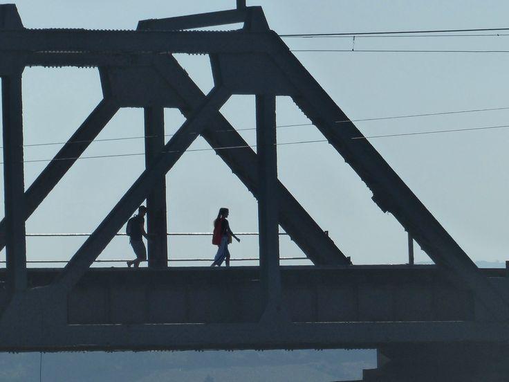 Illovo River rail bridge, south of Durban, South Africa, 2017.