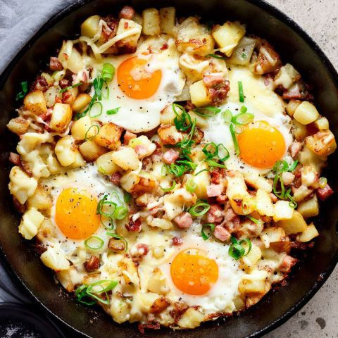 This one-pan dish is classic breakfast comfort food. Load the skillet up with…