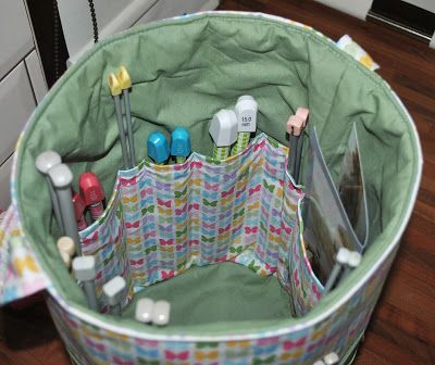 Sew Sweet: The Ultimate Knitters Tote Inside of bah...no pattern