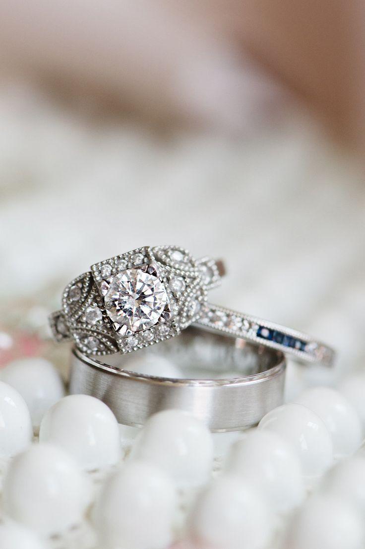 Round-cut engagement rings | Photography: Amanda Megan Miller
