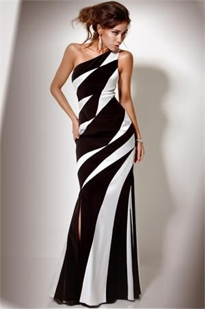 black and white evening gowns | Wedding Dresses » Unique black and white prom dress