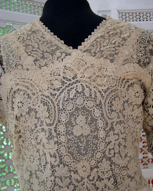 Antique Lace, Linens-Vintage Clothing-Textiles-Fans-Stella Niforos-New York: Archive