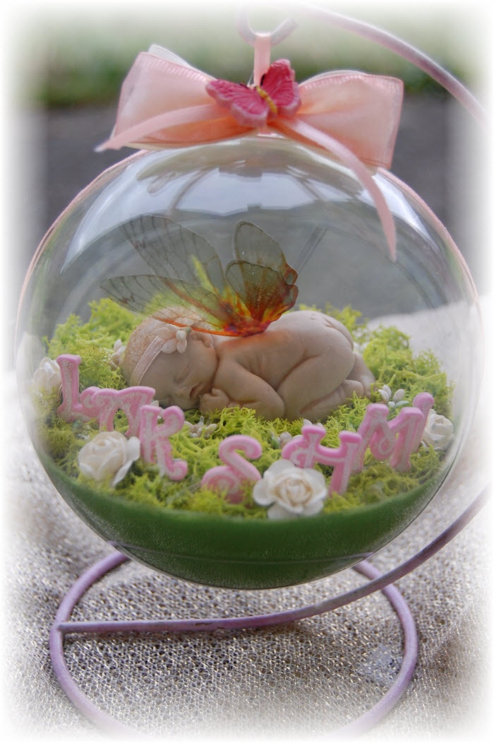 The cutest thing?  Fairy in natural scene - The ultimate handmade personalised baby gift.