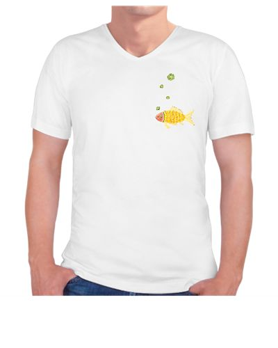 meyveşöleni-balık  / the fruit feast - the fish / t-shirt / orange / lemon / kiwi / pear / banana / watermelon / pattern