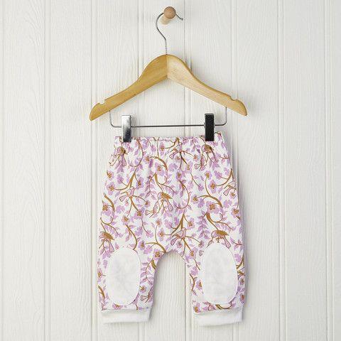 Baby Girl Pink Harem Pants Flamboyant harem style baby leggings with patches £14.00 Free UK delivery #babyleggings #harempants