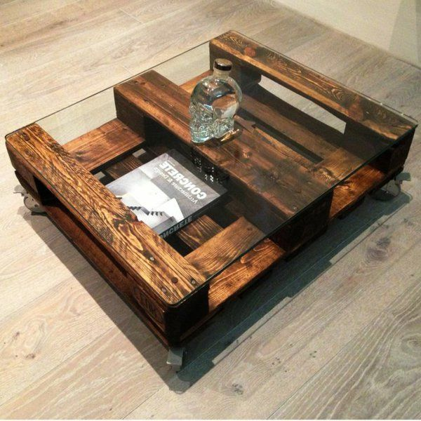 25 best ideas about table basse palette on pinterest for Table basse palette roulette