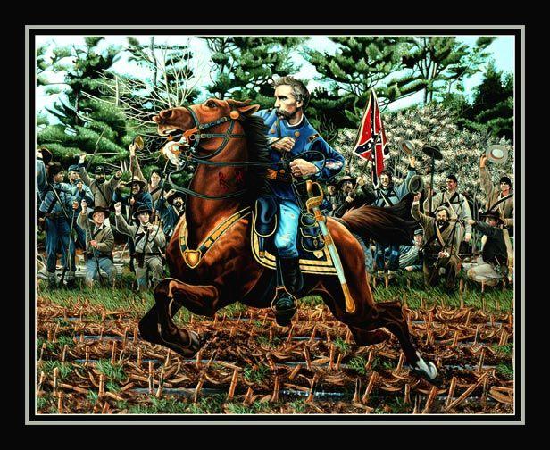 General Joshua Chamberlain and Horse by Civil War Artist Ken ...