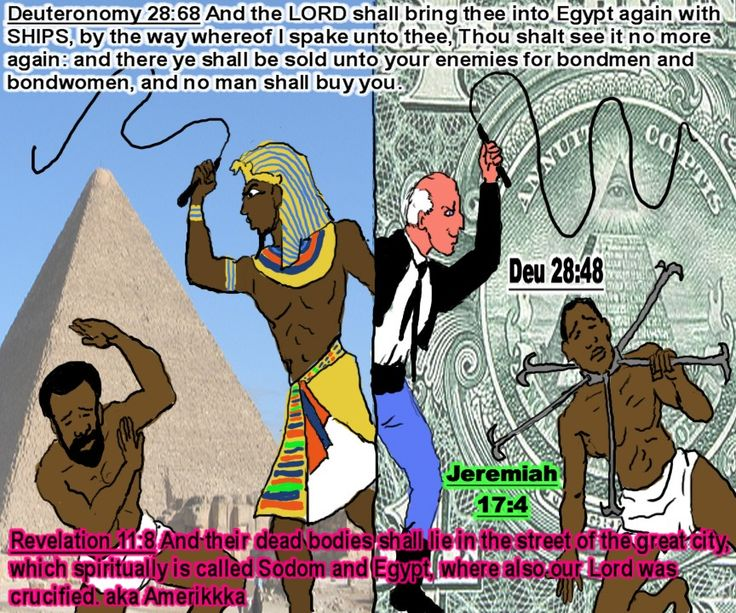Hebrews In Bondage: Hebrew Israelites as slaves in Egypt and as slaves in the Americas.