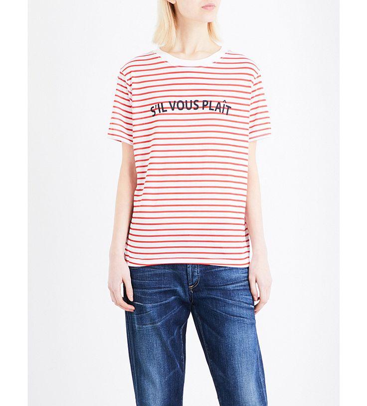 WHISTLES Sil Vous Plait jersey t-shirt