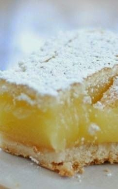 Ina Garten's Lemon Bars ~ The crust is incredibly buttery in the most delicious way, and it pairs perfectly with the lemon..