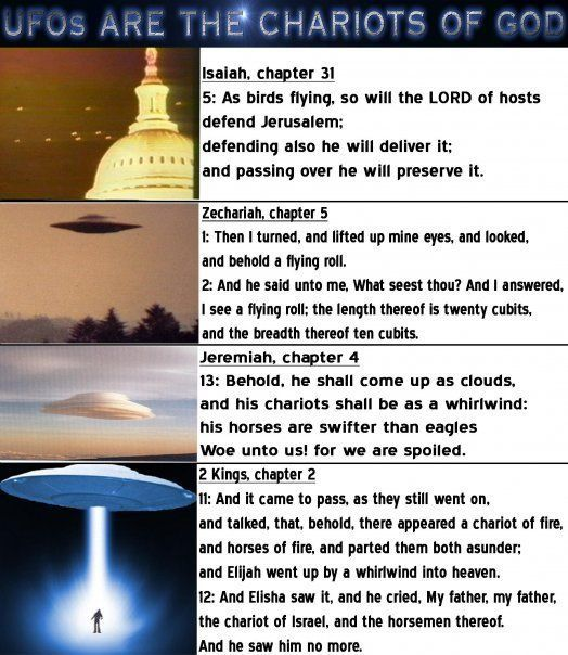 Yahawah's UFOs, these are the chariots of the most high