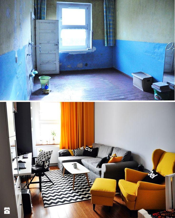 Metamorfoza salonu - zdjęcie od Alicja Wydmańska - Salon - Styl Skandynawski - Alicja Wydmańska
