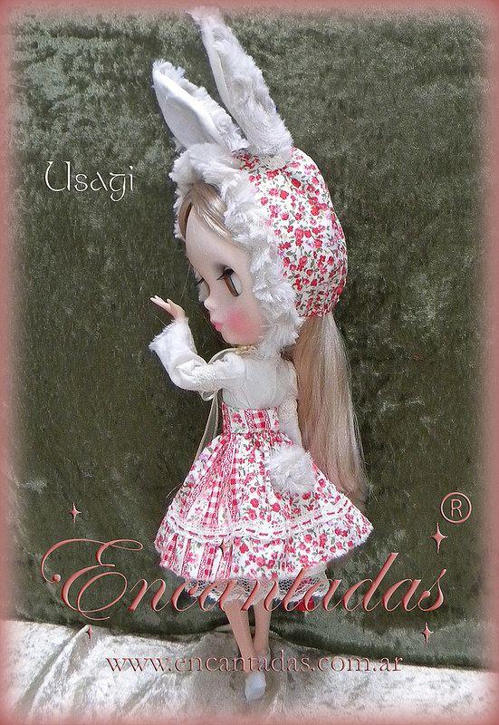 Usagi outfit para Blythe - Diseñado y confeccionado a pedido