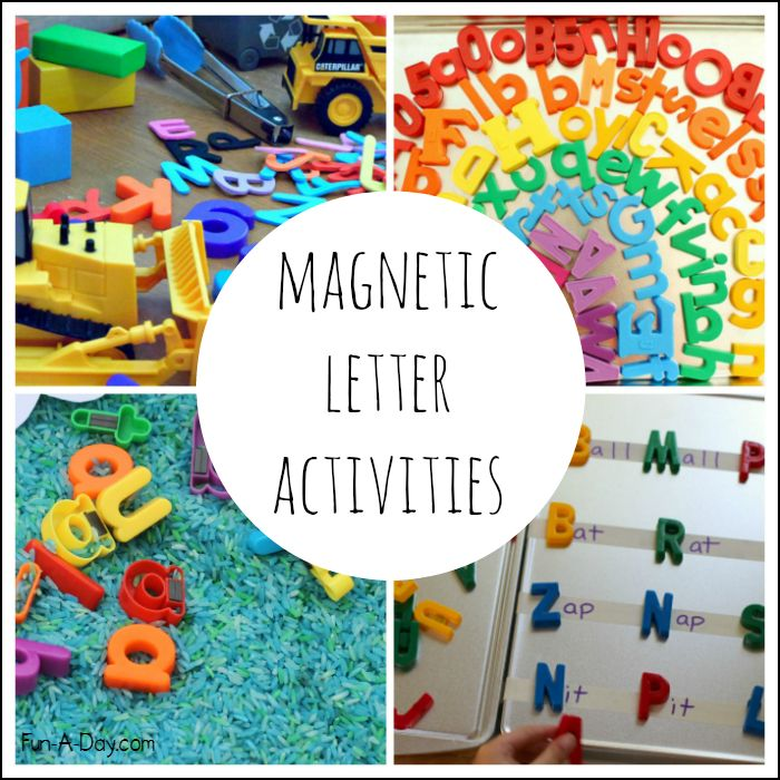 Preschool Alphabet Fun Using Magnetic Letters