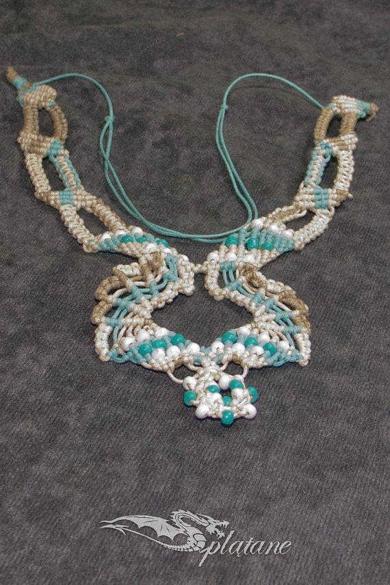 Macrame sea necklace by Splatane on Etsy, €18.00
