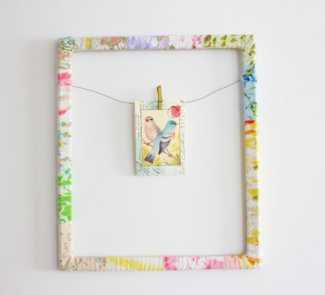 vintage sheet frame: Tutorials, Fresh, Frames, Sheet Wrapped, Vintage Sheets, Fun, Diy, Craft Ideas