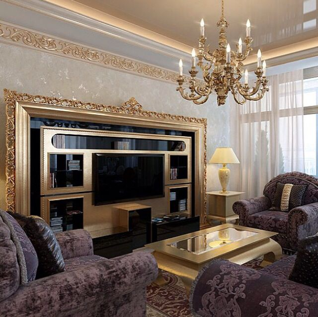 Luxury classic living room with vismara design tv stand for Luxury classic interior design