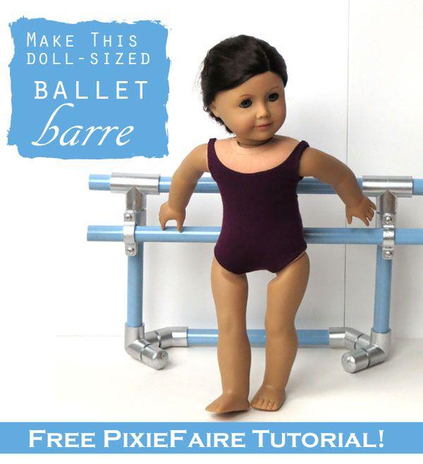 Ballet Barre for dolls | Pixie Faire