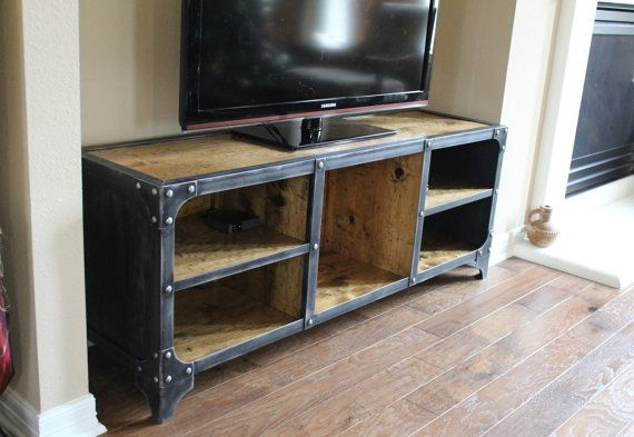 Media Console Tv Stand Industrial Style
