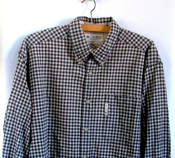 Vintage Columbia Sport Mens 80s Shirt Flannel Long by artwardrobe, $22.00