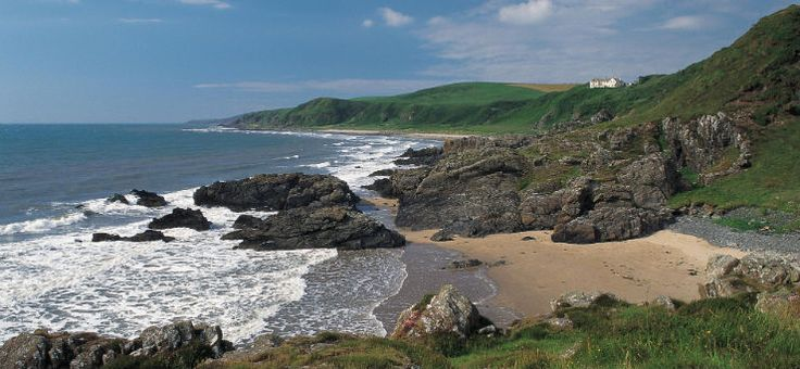 Dumfries & Galloway-  Looking across a sandy beach at Killantringan Bay