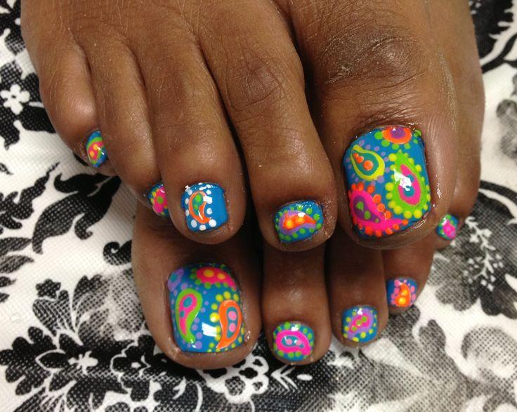 Nail art || Paisley Toes