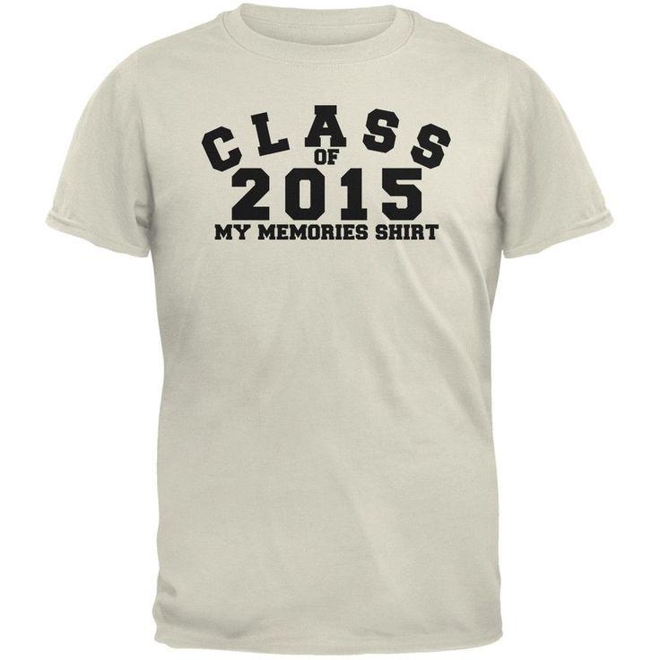 Graduation - Class Memories 2015 Natural Adult T-Shirt