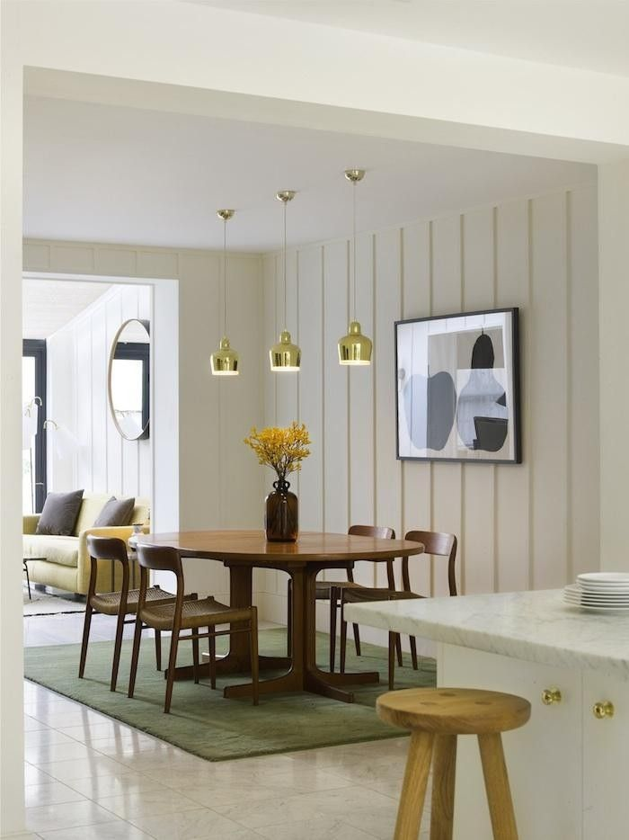 Charles Mellersh renvovation of Victorian terrace in Notting Hill, board and batten panelling, Niels Moller Dining Set, Enzo Mari print | Remodelista