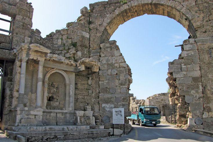 Antique Gate of Side, Antayla Turkiye