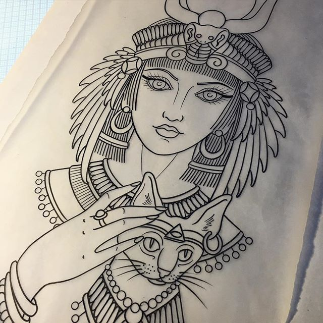 #mulpix Drawing For A Tattoo Started Today. Egyptian