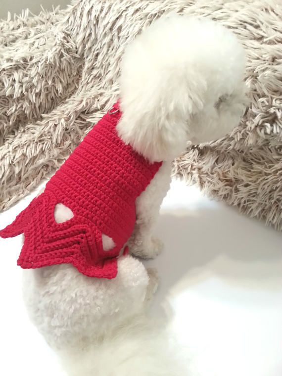 Cotton Dog Harness Cotton Crochet Dog Vest Pet Clothing by BubaDog
