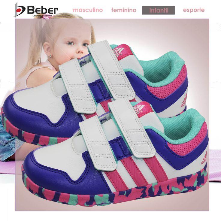 Desenvolvido especialmente para crian�as, o T�nis adidas Trainer Infantil �  o modelo ideal para a