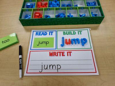 Read It, Build It, Write It for SPELLING Words - Template Freebie