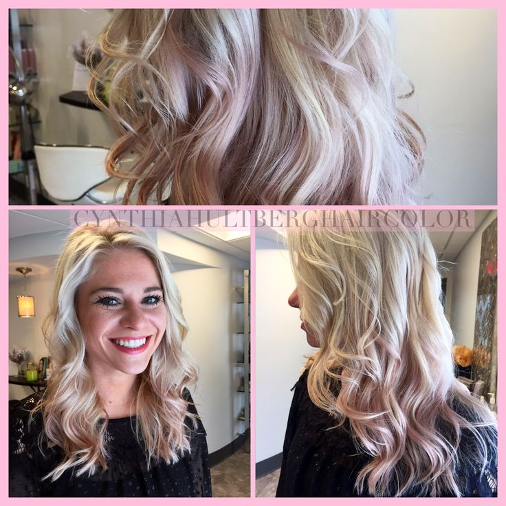 Wella Innosense color soft pink Sombre #CynthiaHultbergHaircolor