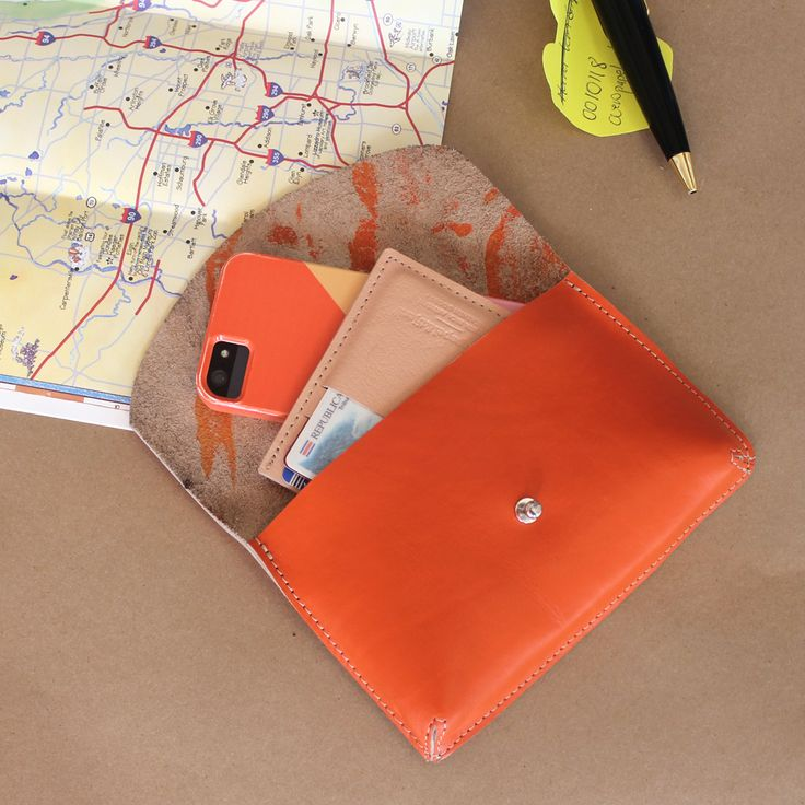Leather Travel Purse | Leather Card Holder | Iphone