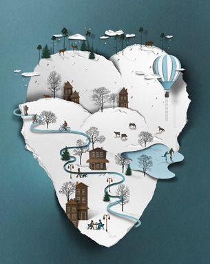 fantastic papercut-look-a-like illustrations by Eiko Ojala