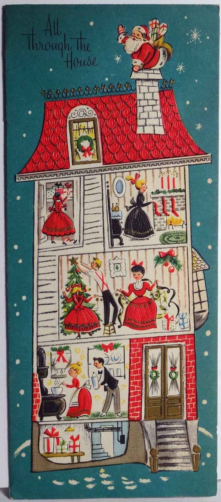 Vintage christmas party invitations - 50s Festive Christmas Retro