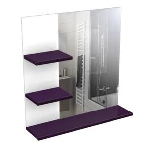 MIROIR SALLE DE BAIN CORAIL Meuble miroir 60 cm aubergine