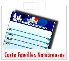 Liste des avantages carte Familles Nombreuses