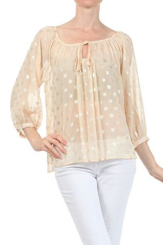 Golden Dot Blouse - finally got more sizes in! Get it now before it's too late!