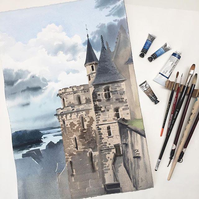 Watercolorist Melibertine Waterblog Akvarel Aquarelle