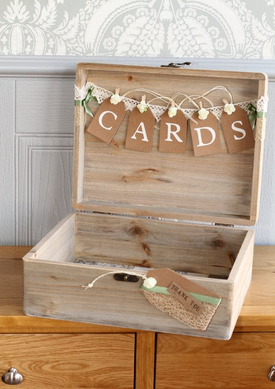 Extra Large Handmade Personalised Acacia Wood Wedding Card Box Keepsake Memories Decoration