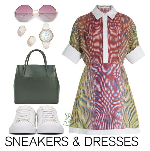 """Sporty Chic: Sneakers and Dresses"" by patigshively ❤ liked on Polyvore featuring Mary Katrantzou, Givenchy, Kendra Scott, Kate Spade, Spring2017 and SNEAKERSANDDRESSES"